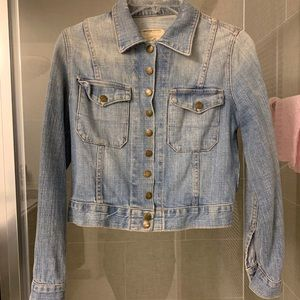 Current Elliott cropped denim jacket